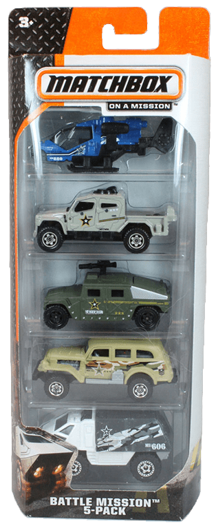 Matchbox 5 Pack : 2014 #10 - Battle Mission