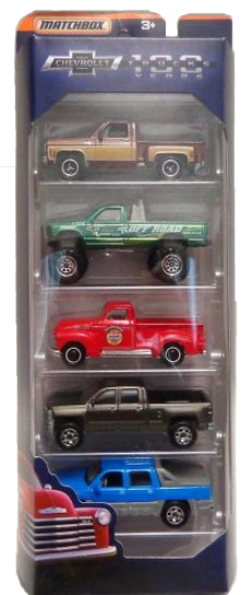 Matchbox 5 Pack : 2018 Chevrolet Trucks 100 Years