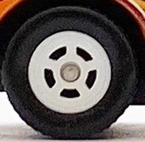 Matchbox Wheels : 5 Spoke Hot Rod Rubber (White)