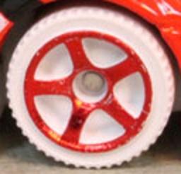 Matchbox Wheels : 5 Spoke Modern - Red on White Tyre