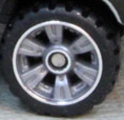 Matchbox Wheels : 6 Spoke Slotted - Grey