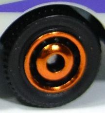 Matchbox Wheels : Ringed Disc - Orange