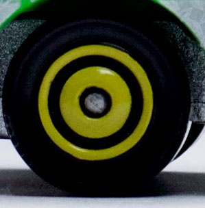 Matchbox Wheels : Ringed Disc - Yellow