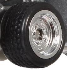 Matchbox Wheels : Steel Rims - Chrome