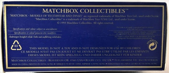 Matchbox Dinky DY-35 : 1968 Volkswagen Karmann-Ghia