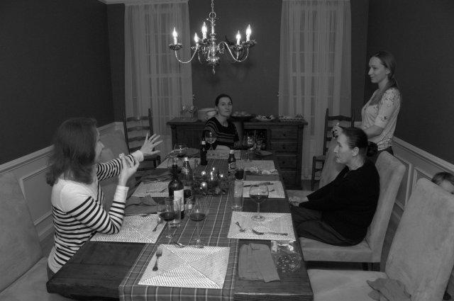 The ladies discuss
