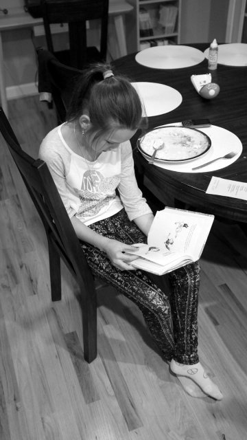 Reading after dinner