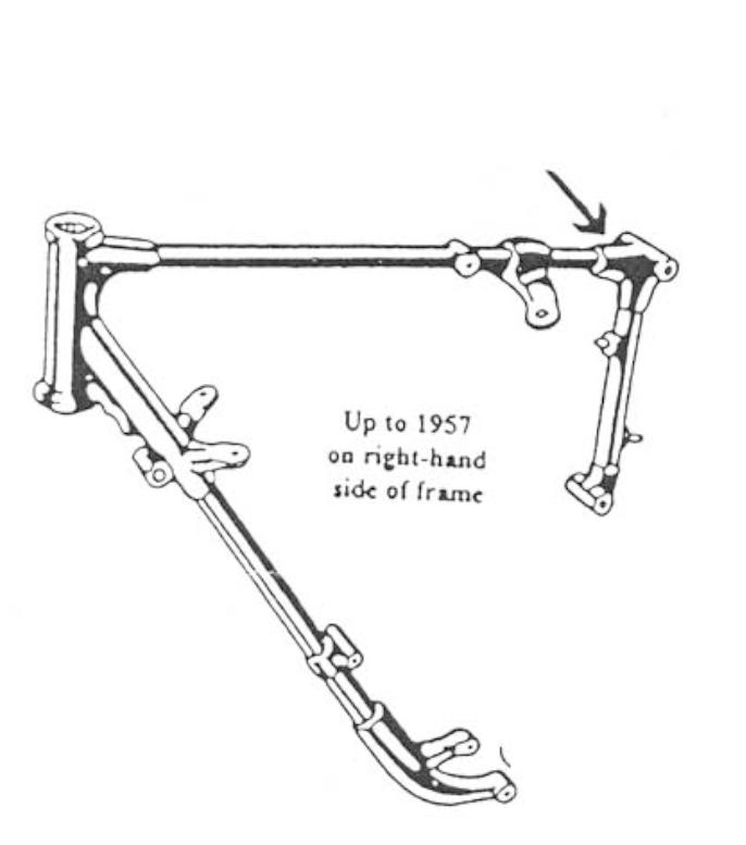 Finding the frame number on a Matchless motorbike