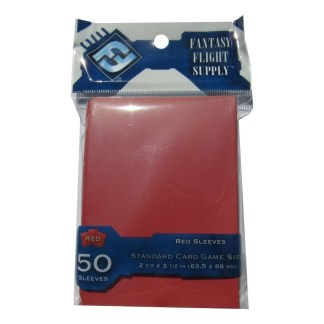 FFG FFS30 Solid Red Card Sleeves