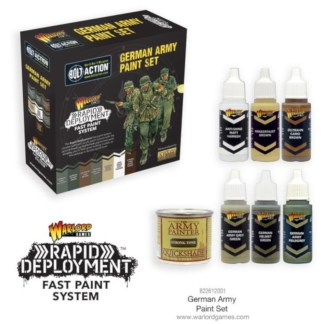 Warlord 822612001 Bolt Action German Army Paint Set