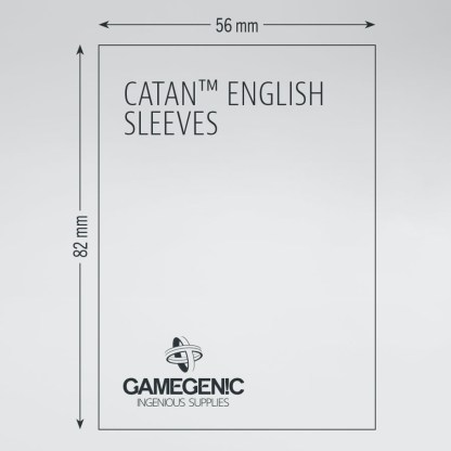 GameGenic GGS10072ML Prime Catan BG Sleeves - Red