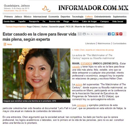 Hellen's marital message appeared in a Mexico newspaper publication.