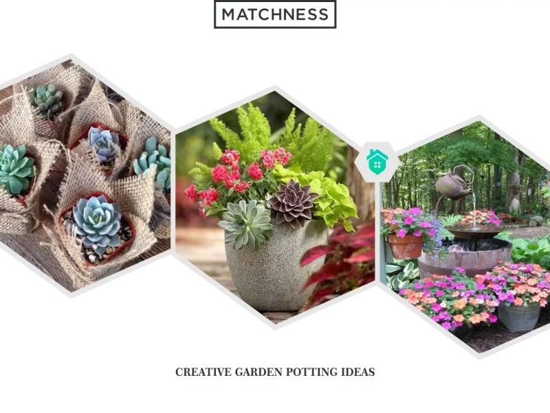 12. garden potting ideas