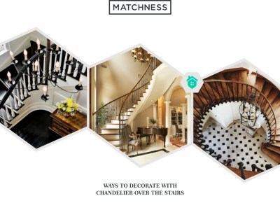 6. chandelier over the stairs