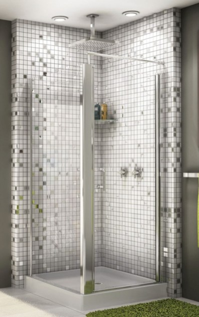 Adorable mosaic marble shower tile for your bathroom 04