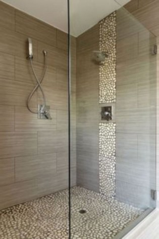 Adorable mosaic marble shower tile for your bathroom 06