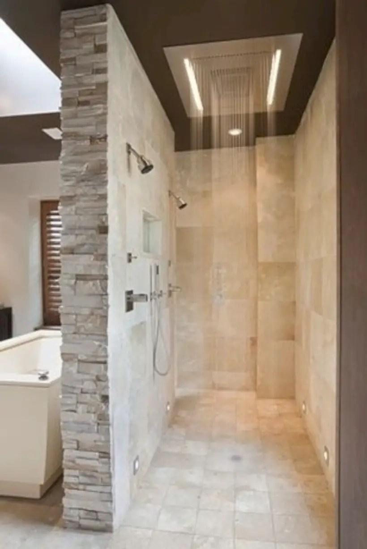 Amazing doorless shower design ideas 07