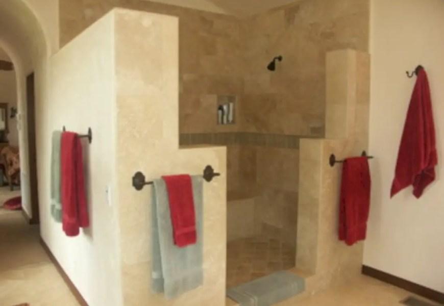 Amazing doorless shower design ideas 10