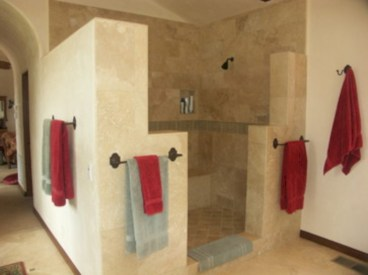 Amazing doorless shower design ideas 10