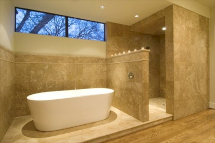 Amazing doorless shower design ideas 25