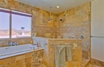 Amazing doorless shower design ideas 27