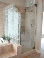 Amazing glass brick shower division design ideas 04