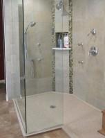 Beautiful bathroom frameless shower glass enclosure 01