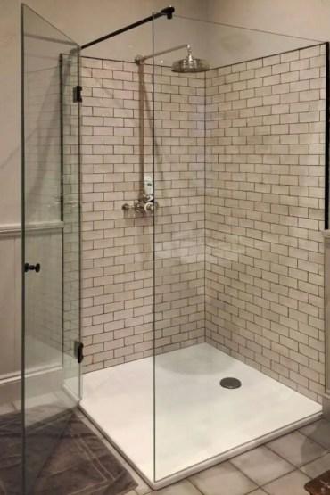 Beautiful bathroom frameless shower glass enclosure 10
