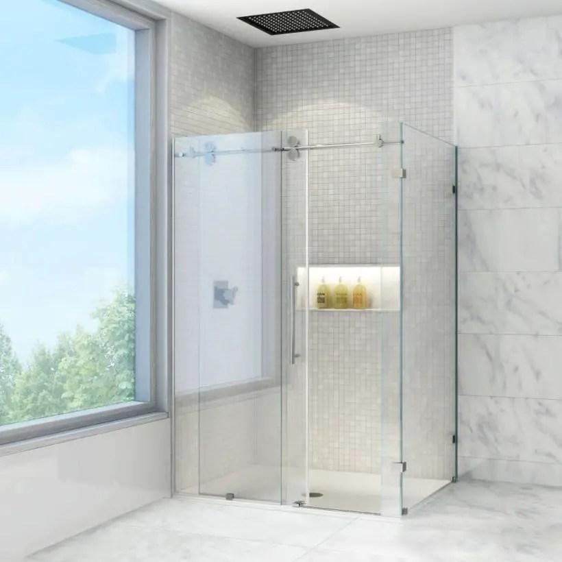 Beautiful bathroom frameless shower glass enclosure 11