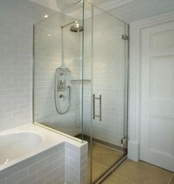 Beautiful bathroom frameless shower glass enclosure 15