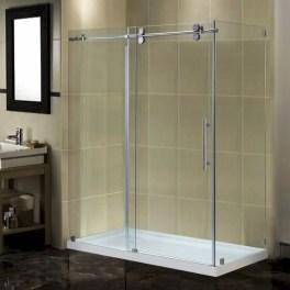 Beautiful bathroom frameless shower glass enclosure 19
