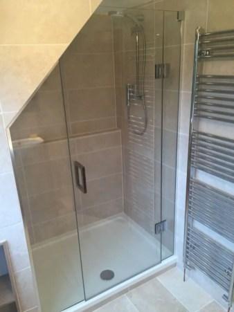 Beautiful bathroom frameless shower glass enclosure 25