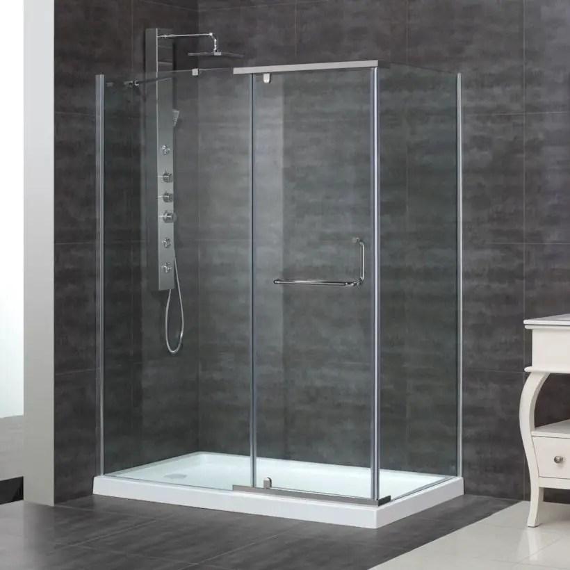 Beautiful bathroom frameless shower glass enclosure 27