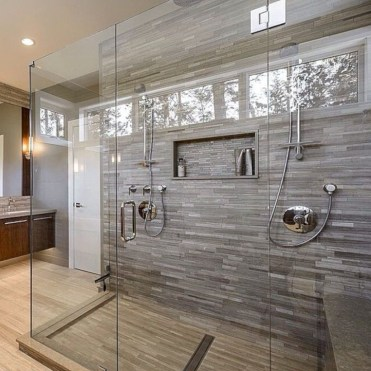 Beautiful bathroom frameless shower glass enclosure 39
