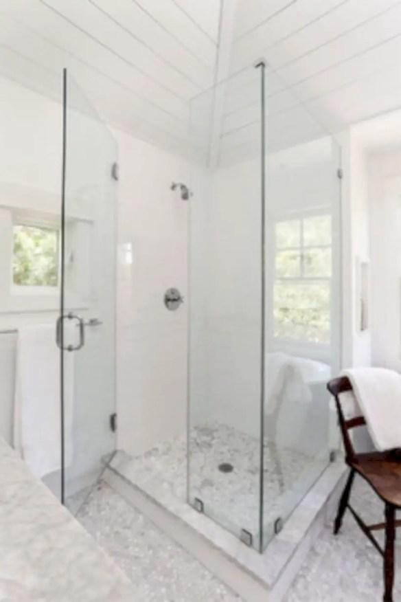 Beautiful bathroom frameless shower glass enclosure 42