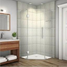 Beautiful bathroom frameless shower glass enclosure 45