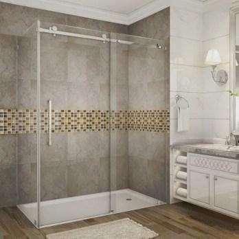 Beautiful bathroom frameless shower glass enclosure 48