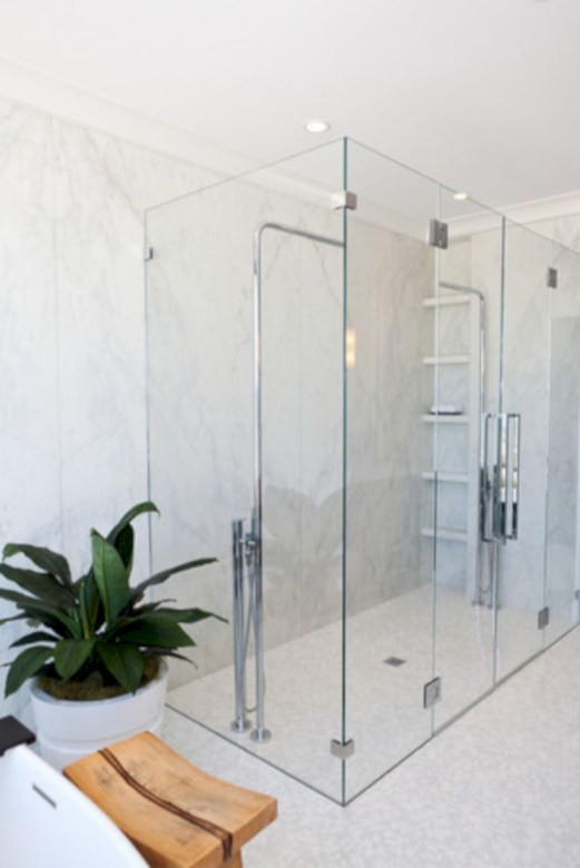 Beautiful bathroom frameless shower glass enclosure 50