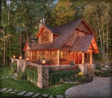 Beautiul log homes ideas to inspire you 42