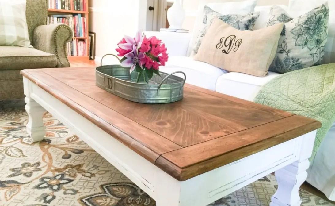 Best chunky farmhouse coffee table 01