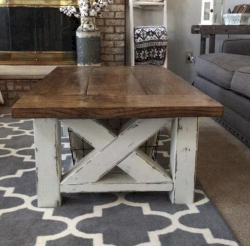 Best chunky farmhouse coffee table 29