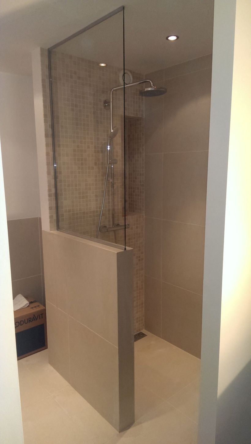 Best classic glass block shower layout 07