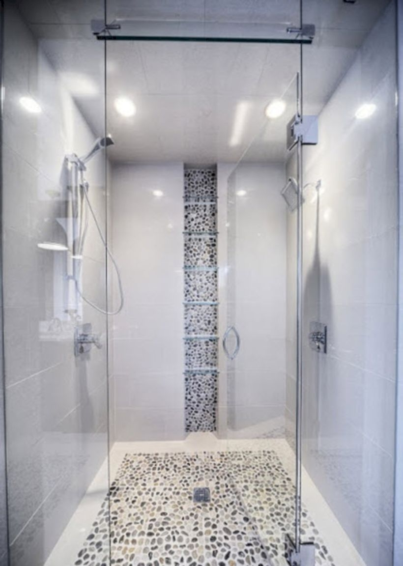 Best classic glass block shower layout 12