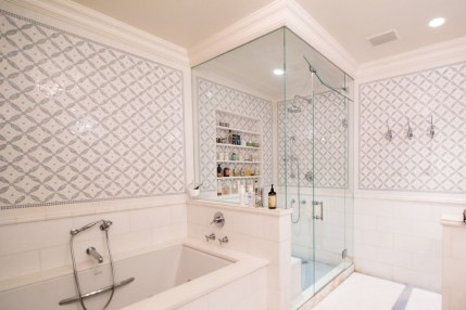 Best classic glass block shower layout 13