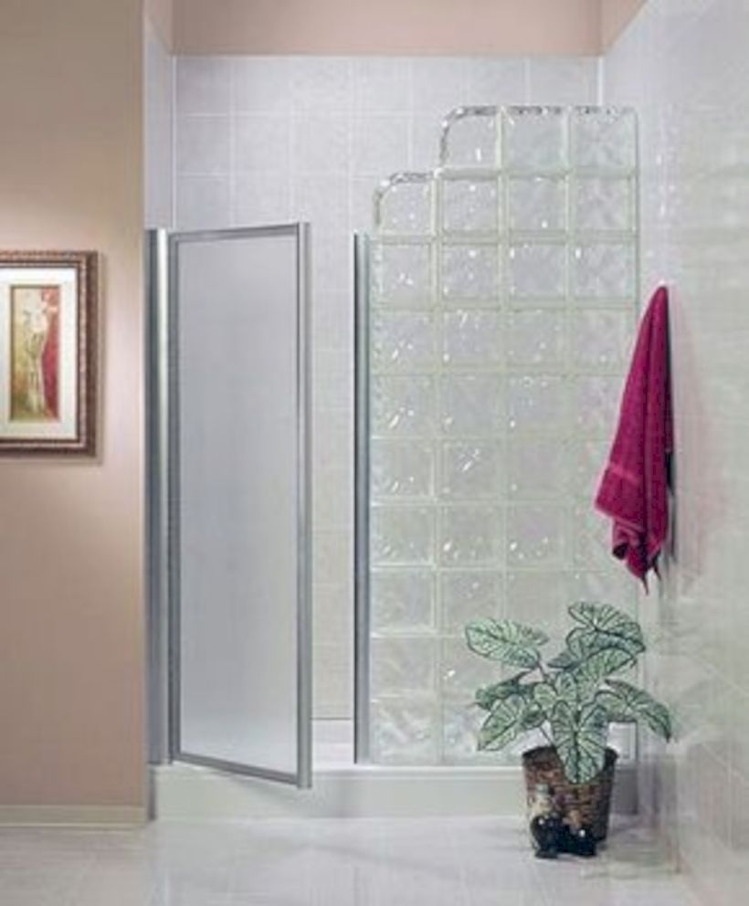 Best classic glass block shower layout 14