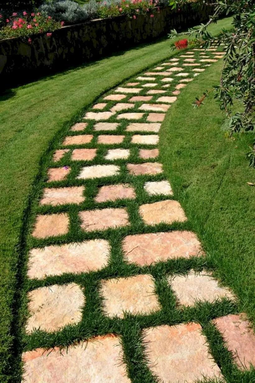 Best garden walkway to envy your visitor 41