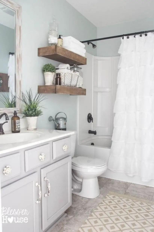 Best modern vintage bathroom reveal 18