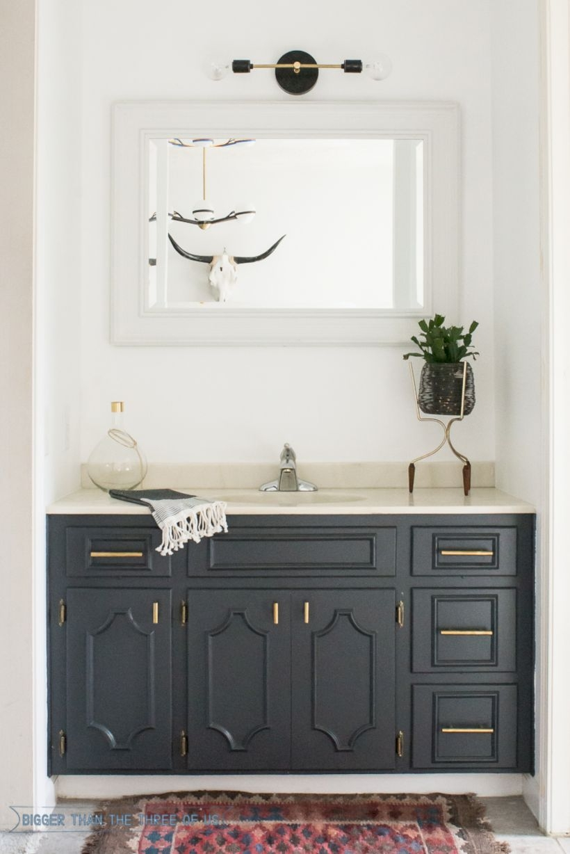 Best modern vintage bathroom reveal 26