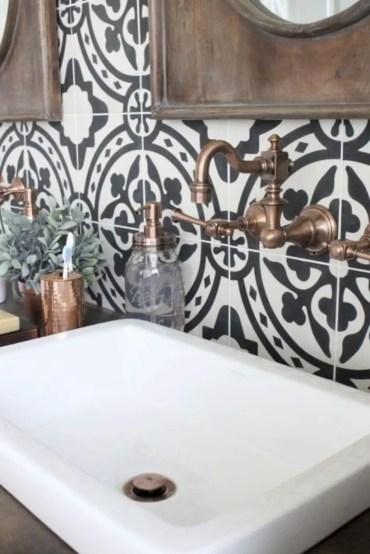 Best modern vintage bathroom reveal 33
