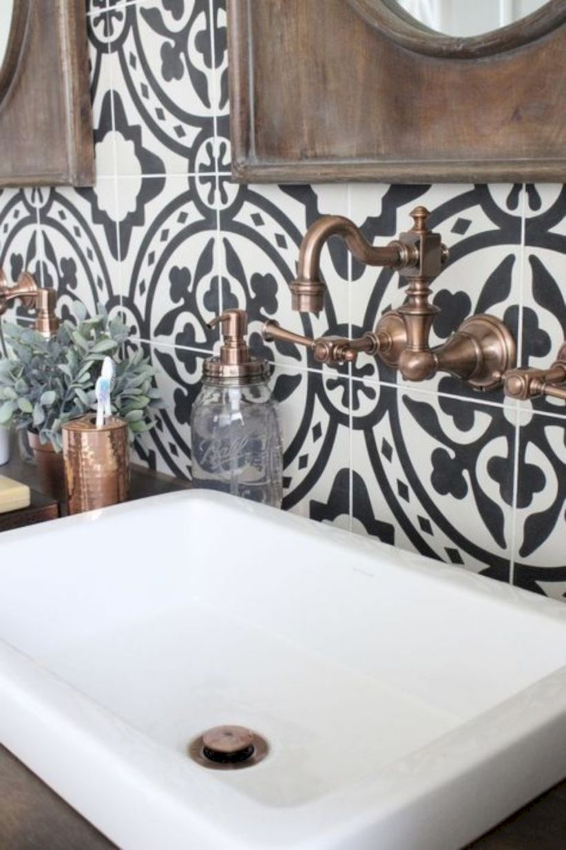 Best modern vintage bathroom reveal 33